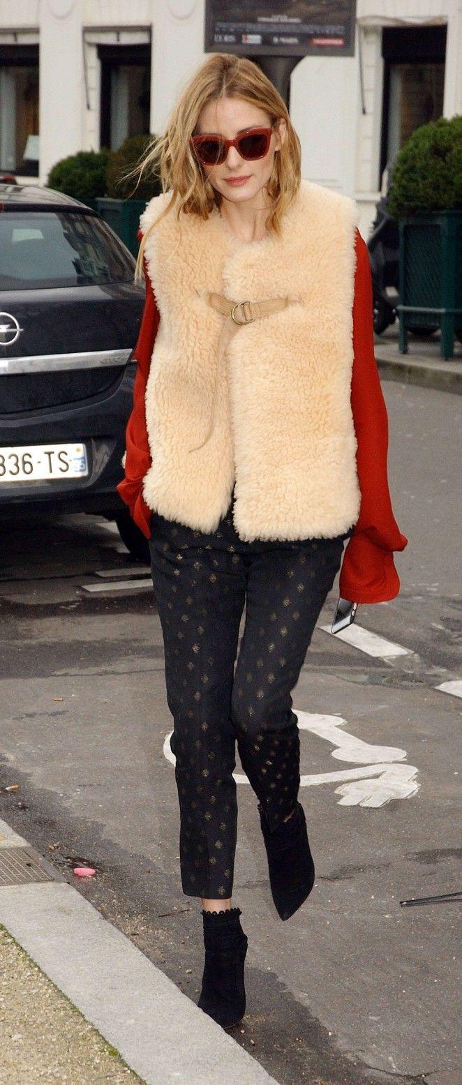 Olivia Palermo at Matignon Avenue in Paris on March 3, 2016