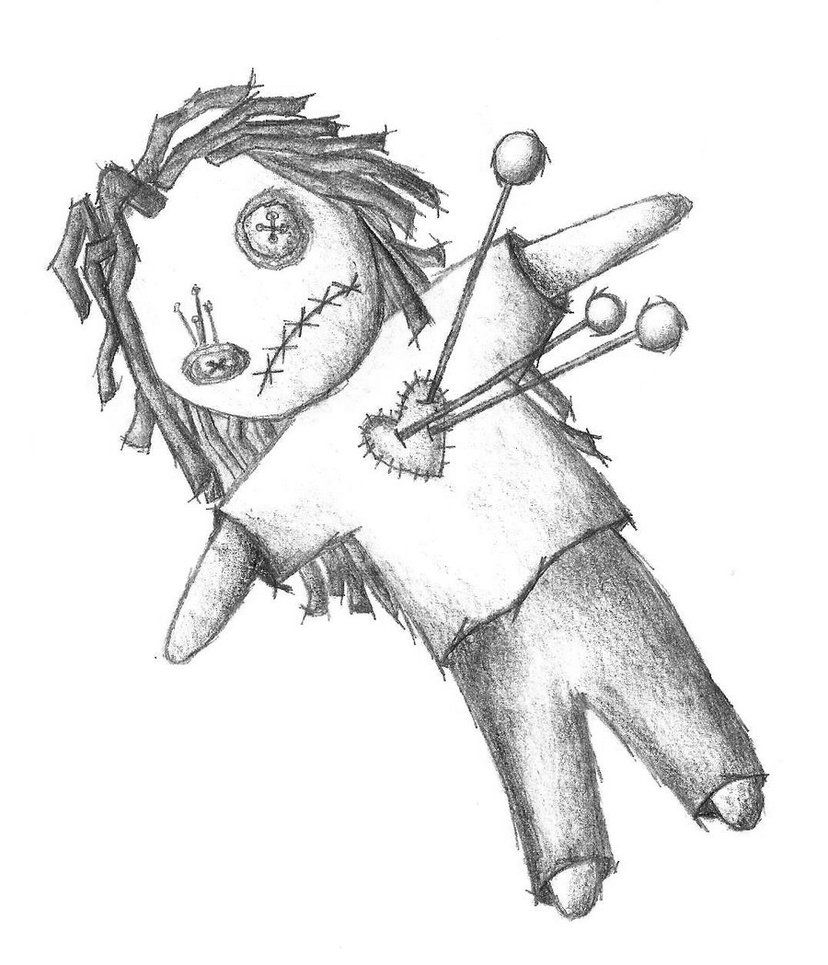 voodoo doll drawings - 828×965