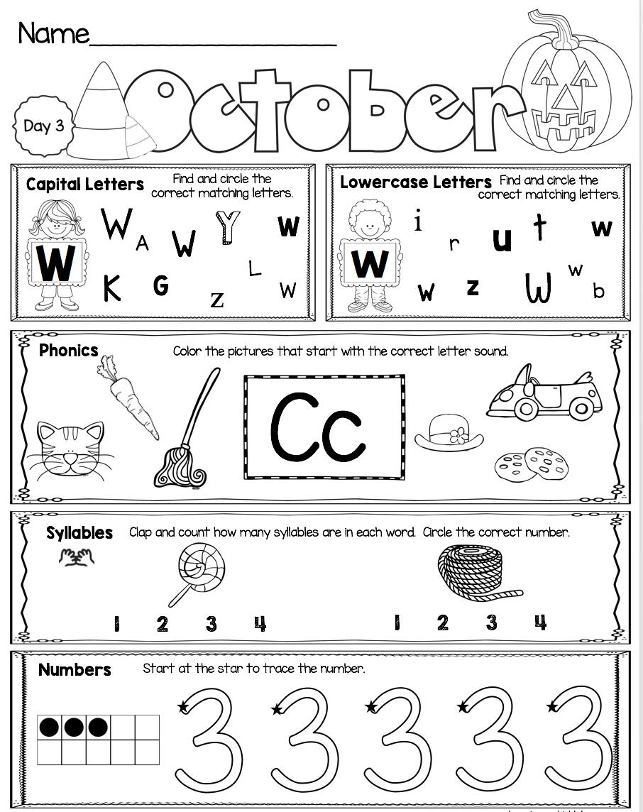October Kindergarten Morning Work Free Week Keeping My Kiddo Busy Kindergarten Morning Work Morning Work Kindergarten Free Kindergarten Homework [ 1144 x 906 Pixel ]