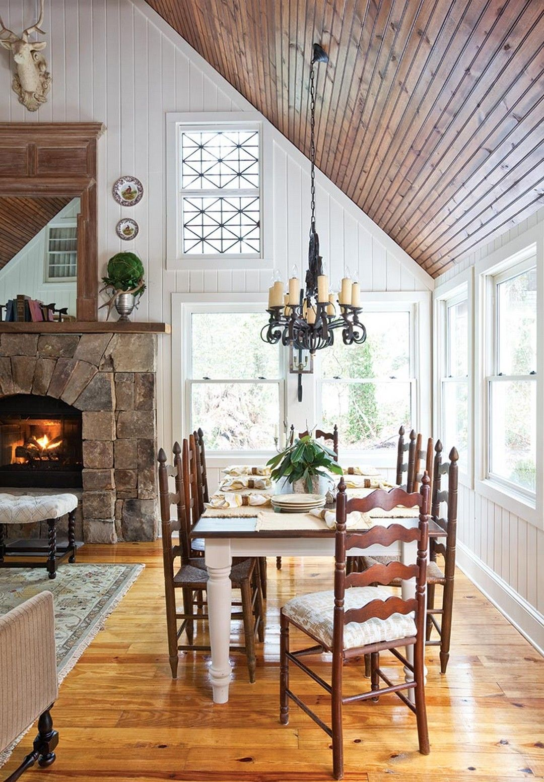 Modern Cozy Mountain Home Design Ideas Dining Room Makeover
