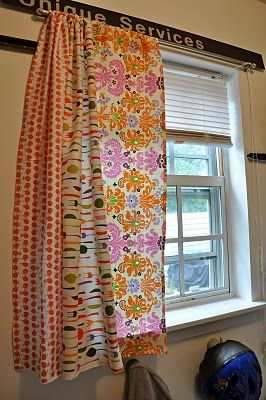 Fun Curtain Ideause All Fabrics That I Use To Make Pillows And Them Do Curtains With White Bed Spread