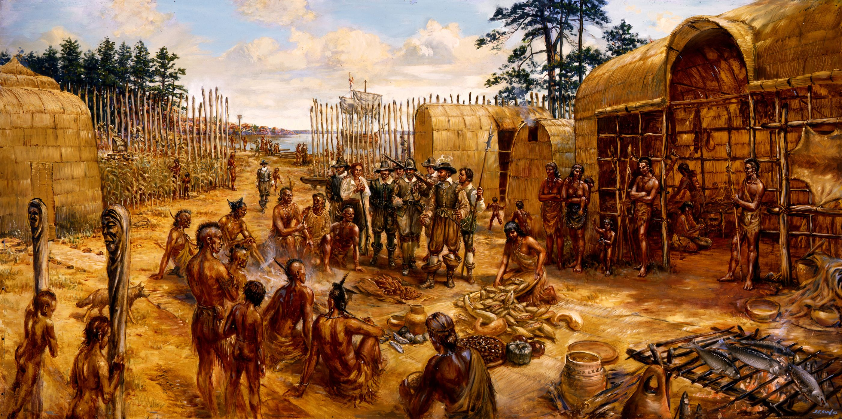 an argumentation of the settlement and colonization of the native people of america The population figures for indigenous peoples in the americas before the 1492  voyage of  contact with the europeans led to the european colonization of the  americas, in which millions of immigrants from  gifts to two neutral lenape  indian dignitaries during a peace settlement negotiation, according to the entry in  the.