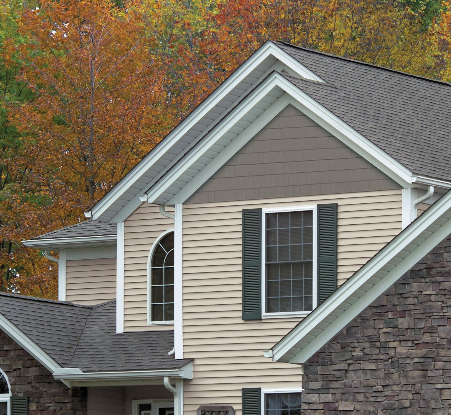 Single 7 Timbercrest Perfection Straight Edge Siding Shingles Add An Air Of Distinction To Any Home Feat Shingle Siding Concrete House Prefabricated Houses