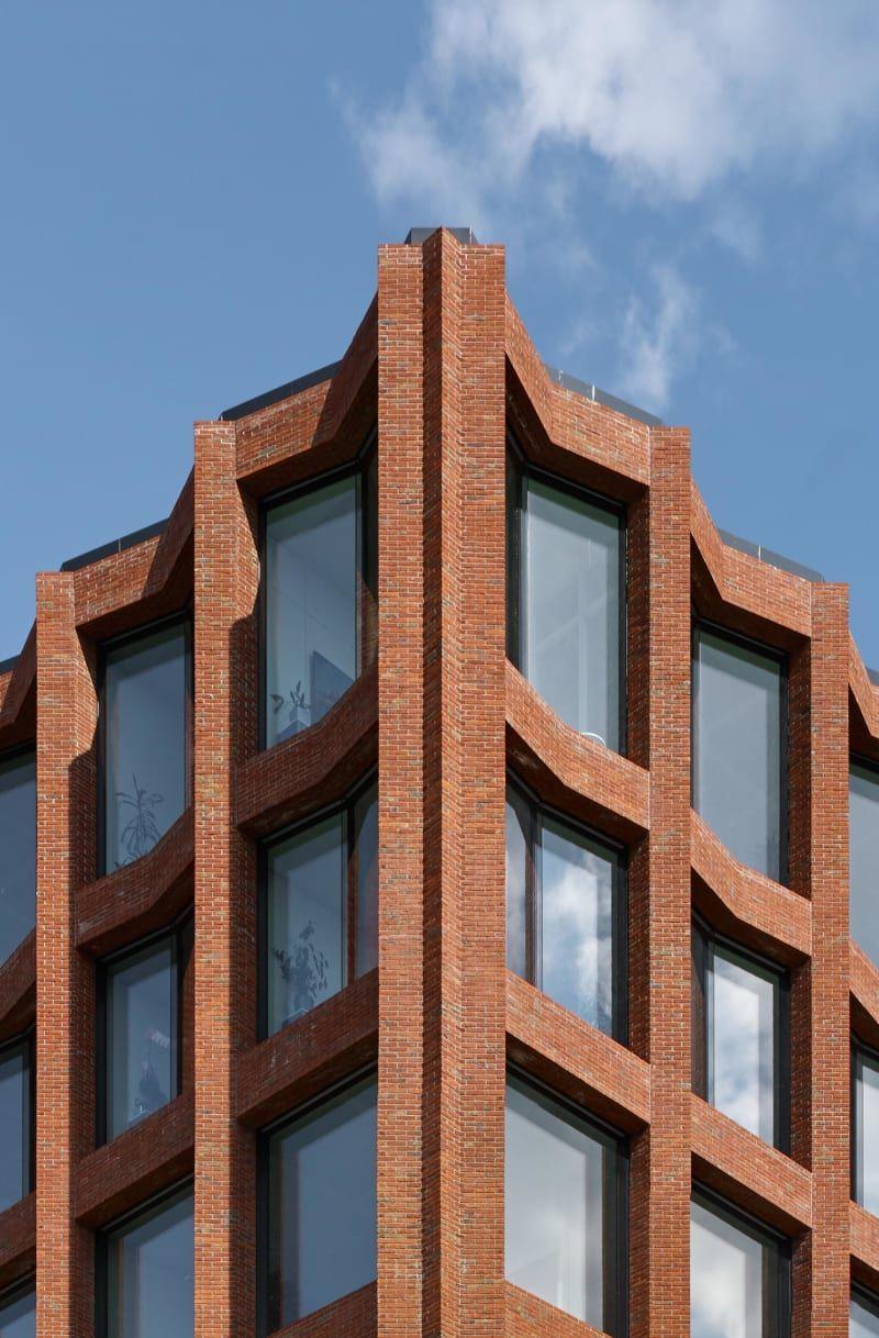 Lübeck. Drägerwerke Haus 72 Brick architecture, Brick facade