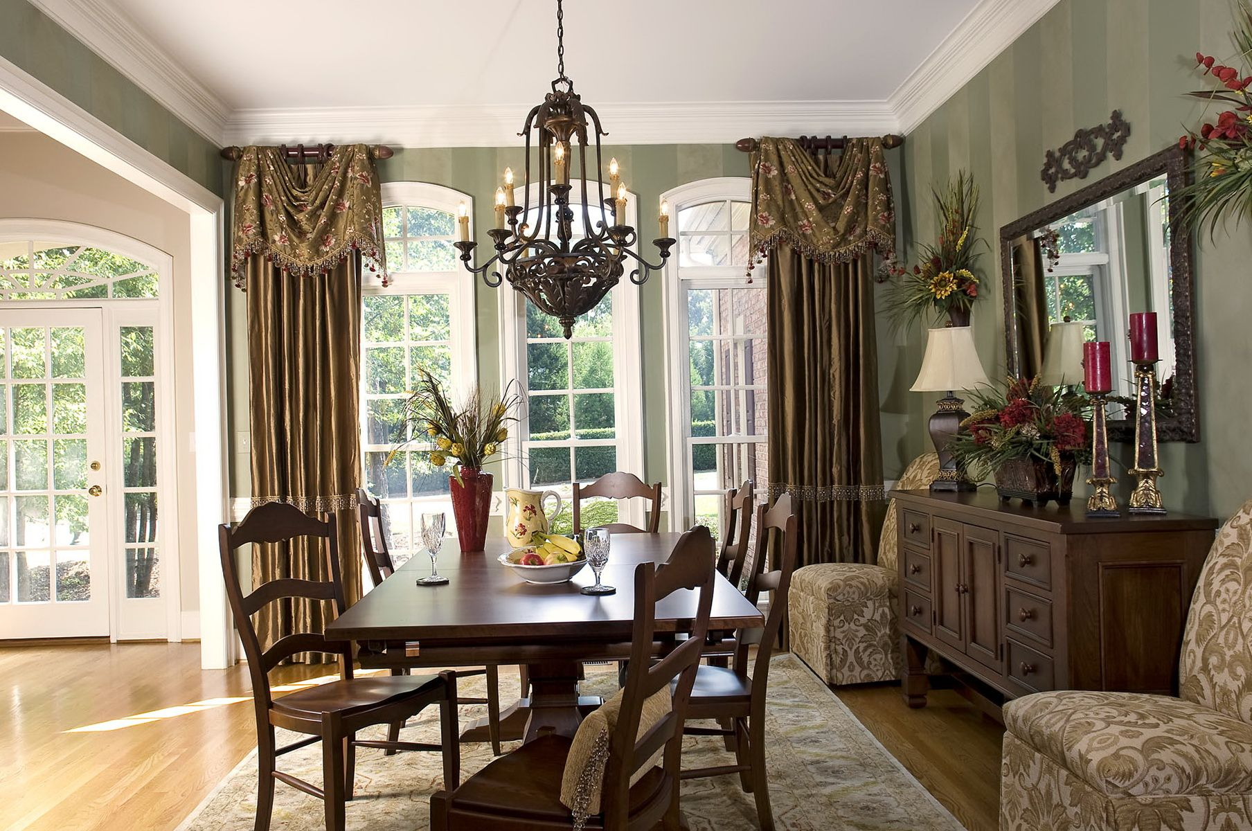 Incroyable Formal Dining Room Curtain Ideas
