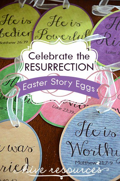 Star a family Easter tradition with these adorable Easter Story Eggs {Hive Resources}