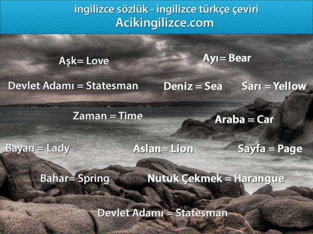 Ingilizce Turkce Ceviri Http Acikingilizce Com Turkish Language Learn Turkish Turkish Lessons
