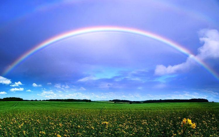 Gambar Pelangi Yang Indah Beautiful Rainbows Pinterest