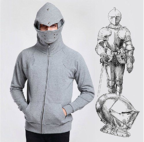 Koveinc Men's The Official Knight Hoodie-Female-Medium - Click image twice for more info - See a larger selection of mens halloween costume at http://costumeriver.com/product-category/mens-halloween-costumes/ -  holiday costume , event costume , halloween costume, cosplay costume, classic costume, scary costume, super heroes costume, classic costume, clothing