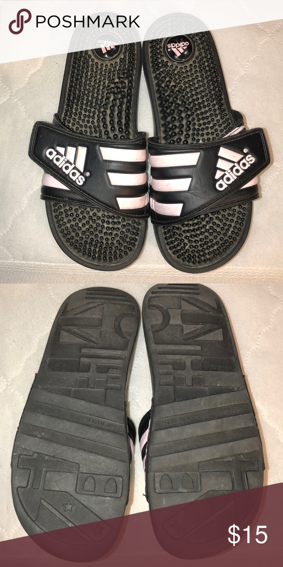 Pink adidas, Adidas sandals, Adidas women