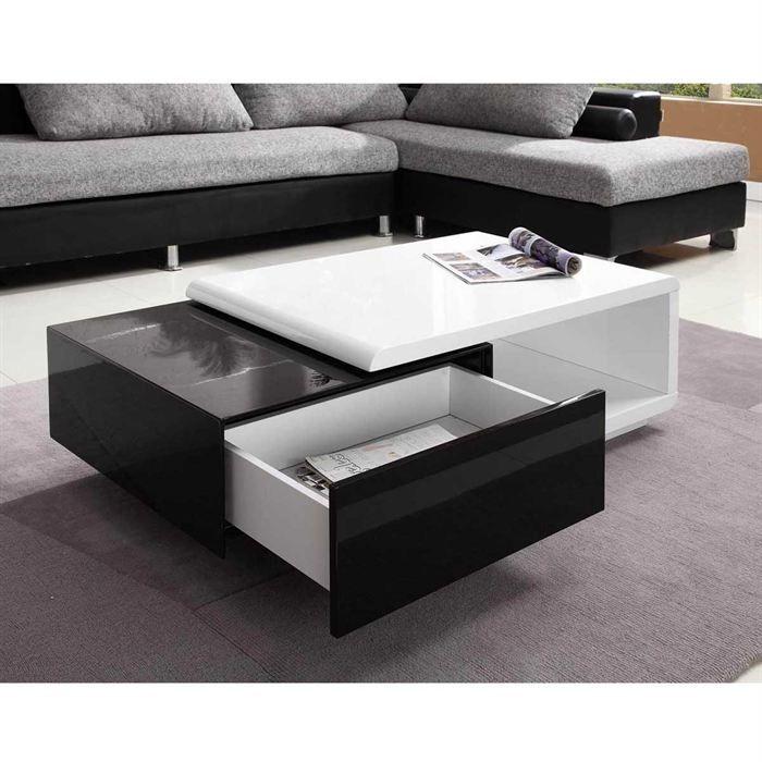 inspirant table basse noir et blanc pas cher furniture. Black Bedroom Furniture Sets. Home Design Ideas