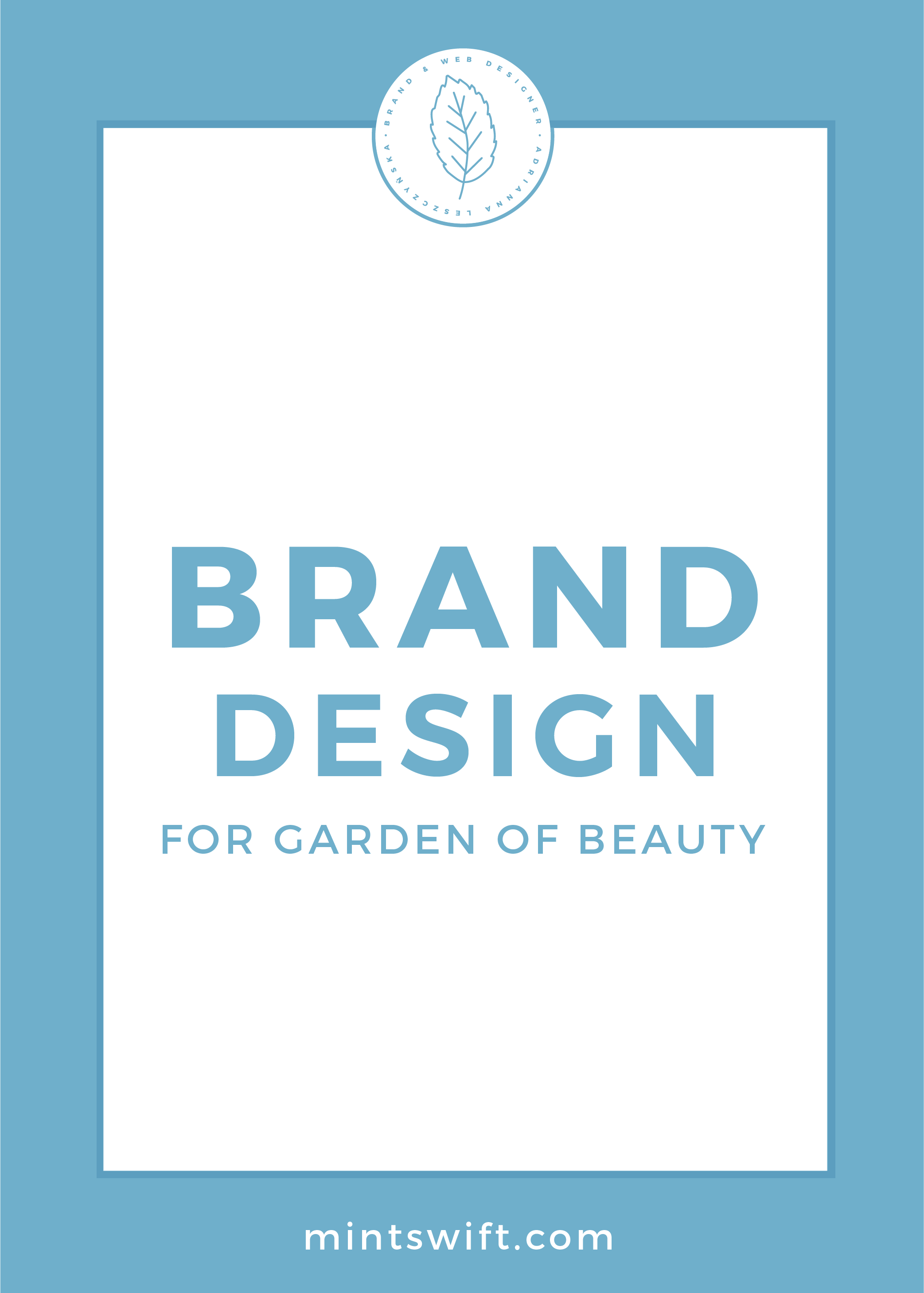 Brand Design for Garden of Beauty is part of Branding design, Branding design packaging, Portfolio website design, Logo design tips, Branding design logo, Website branding - See behind the scenes of the brand design for Garden of Beauty  See the process of creating Melissa's brand identity & collaterals in the portfolio post