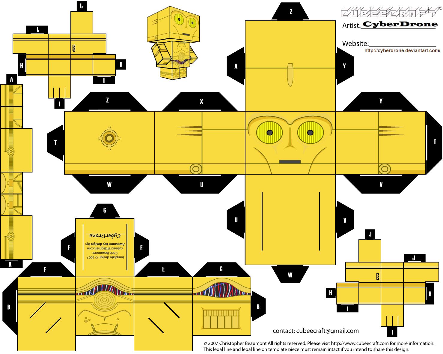 Mara Jade Ahsoka C-3PO Padme | Origami Yoda | 1180x1478