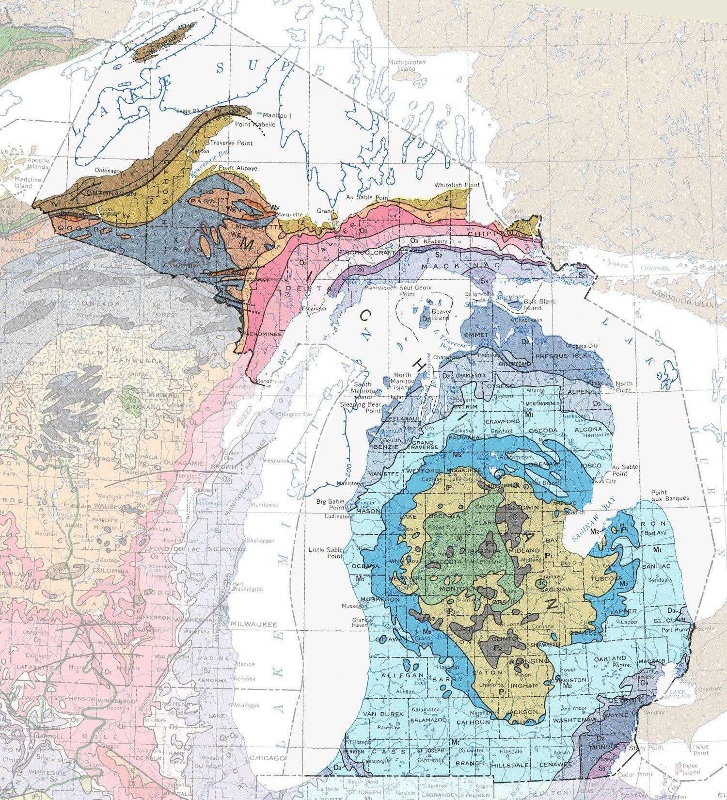Geologic Maps Of The  United States Watercolors Nice And Colors - United states watercolor map