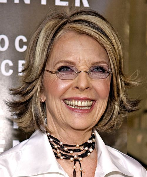 Diane Keaton Medium Straight Hairstyle Diane Keaton Hairstyles Medium Hair Styles Straight Hairstyles