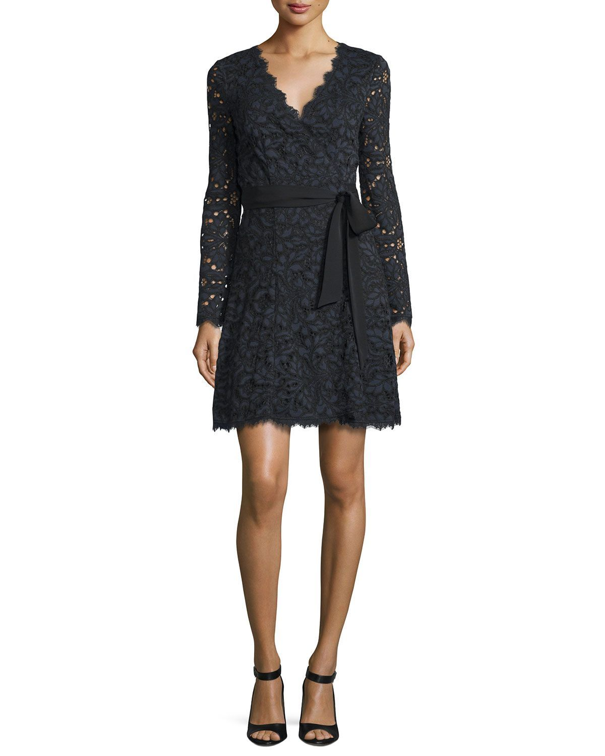 floral lace overlay dress - Black Diane Von F bwsF4va7Px