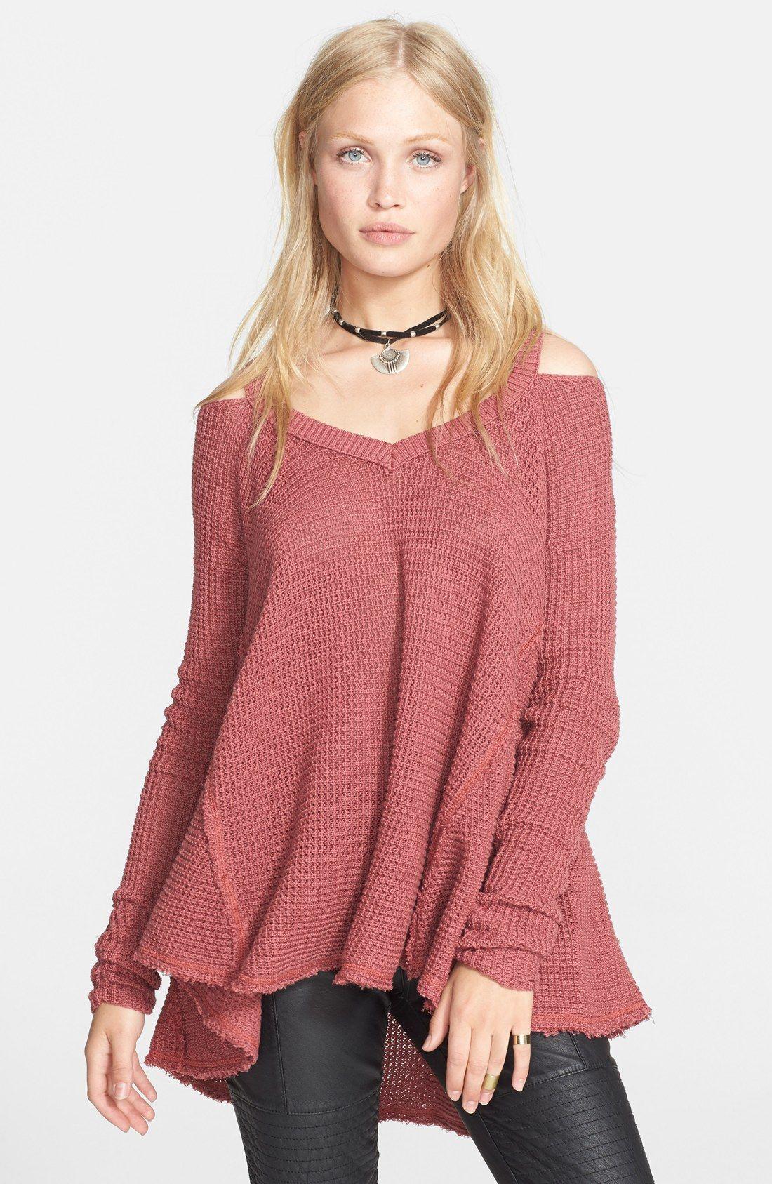 5dc753786a0ec8 Free People  Moonshine V  Cold Shoulder Sweater