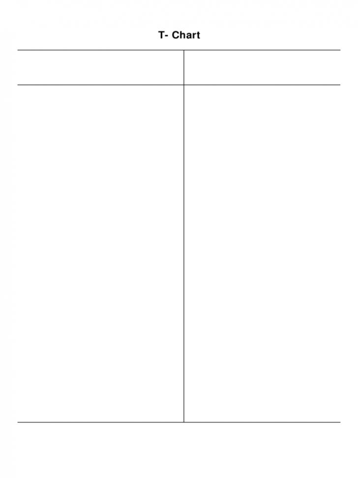 chart  t chart template ideas  t chart template