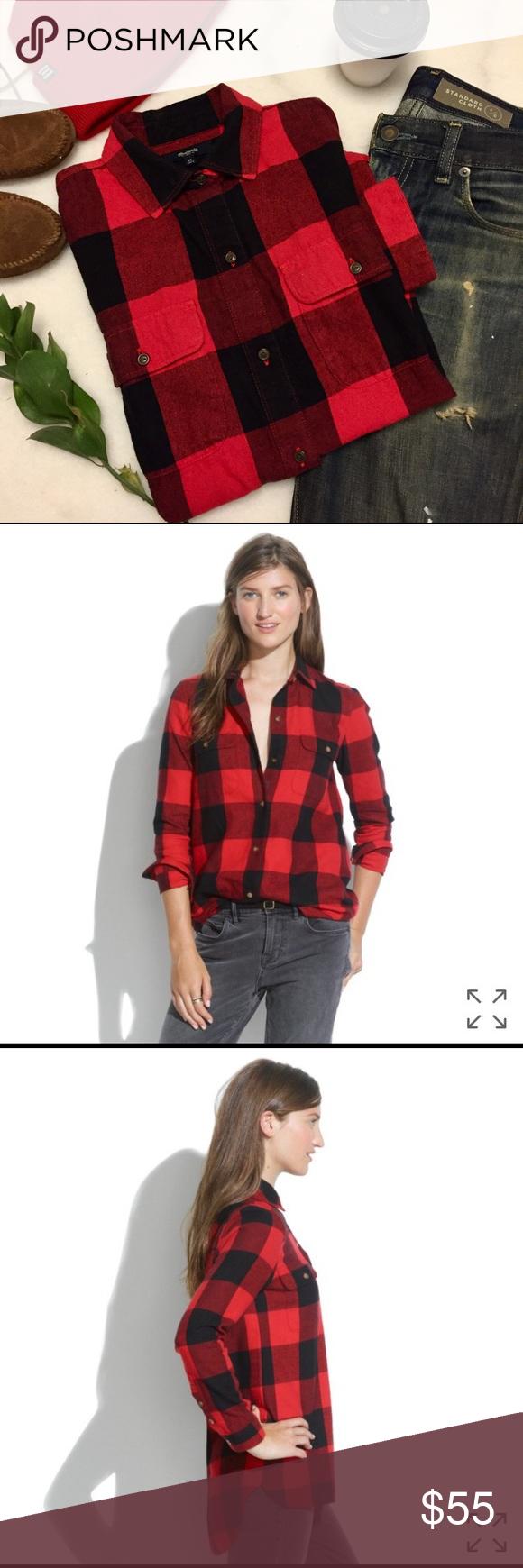 Flannel shirt xs  Madewell Plaid