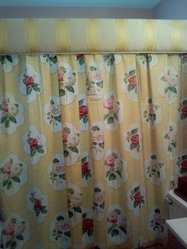 bathroom shower topper and curtain curtain slides on rod using