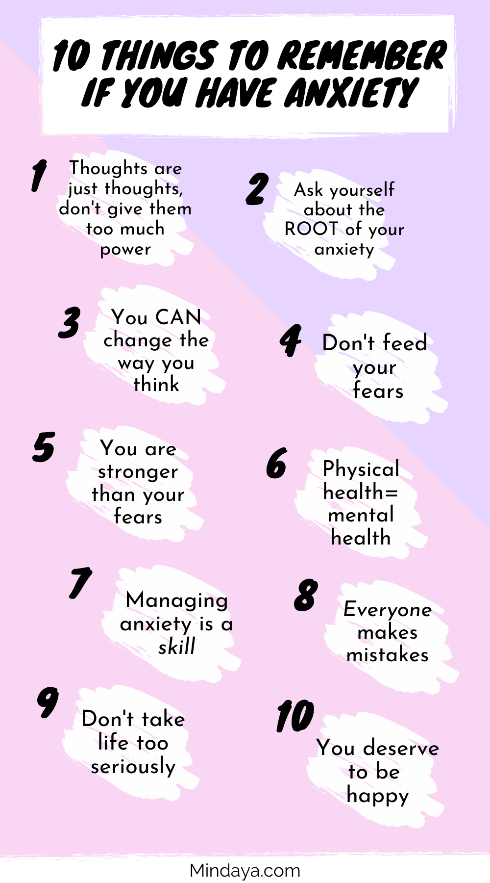 10 Things to Remember if You Have Anxiety | Mindaya