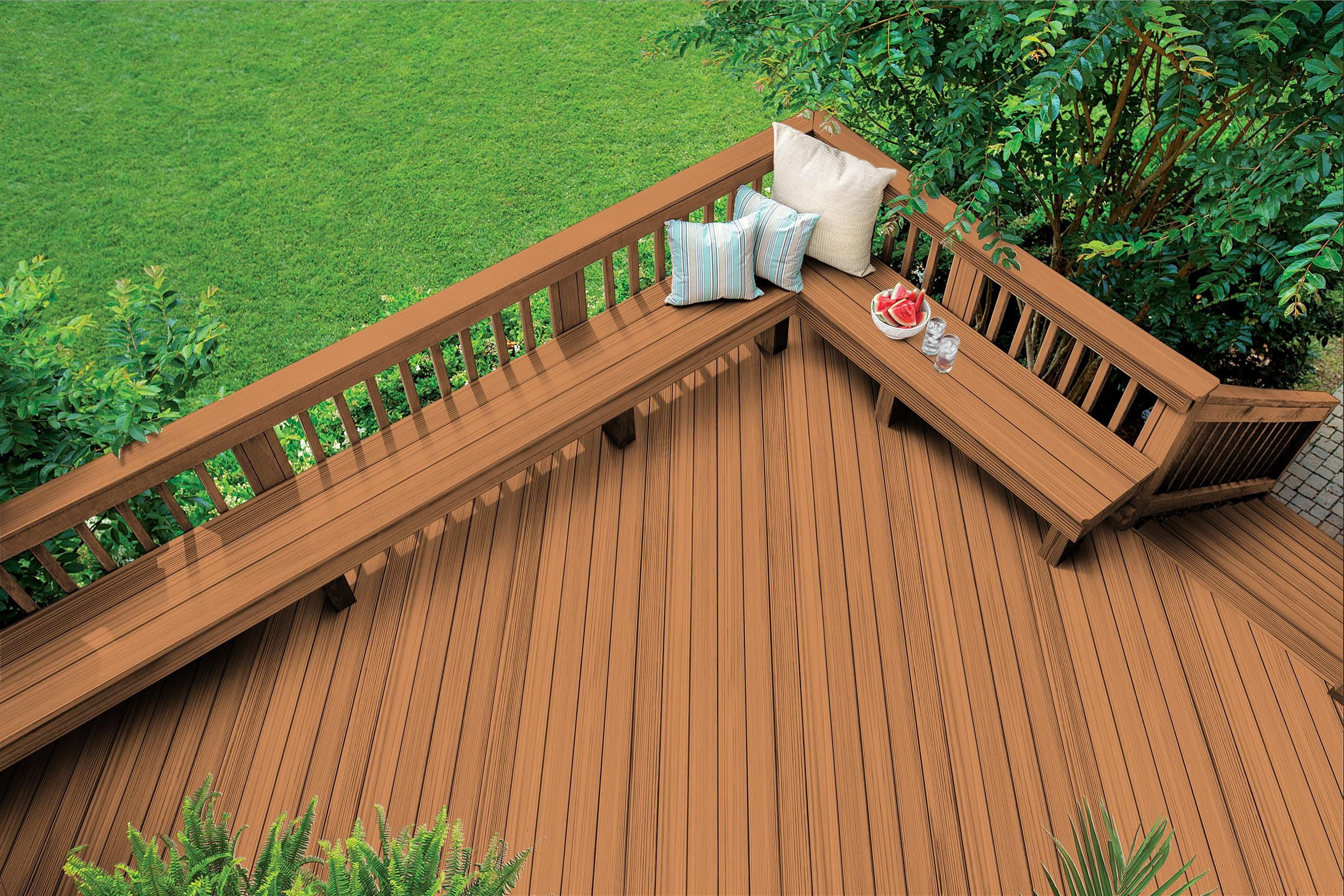 Articles About Deck Stain Color For Yellow House Olympicstains Com Staining Deck Yellow House Exterior Deck Stain Colors