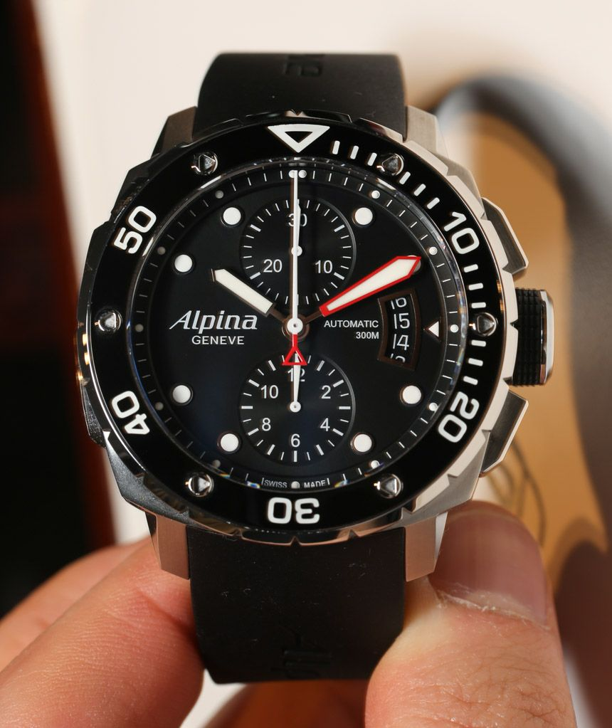 Alpina Extreme Diver 300 Chronograph Automatic Watch Hands-On $3000 ...