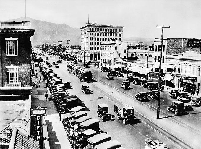 Glendale Ca Brand Blvd Circa 1924 Cities In Los Angeles California History Glendale