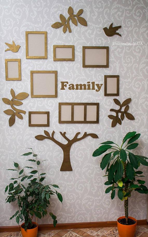 Family Tree Frame Wall Decor Family Tree Frames Personalised Family ...