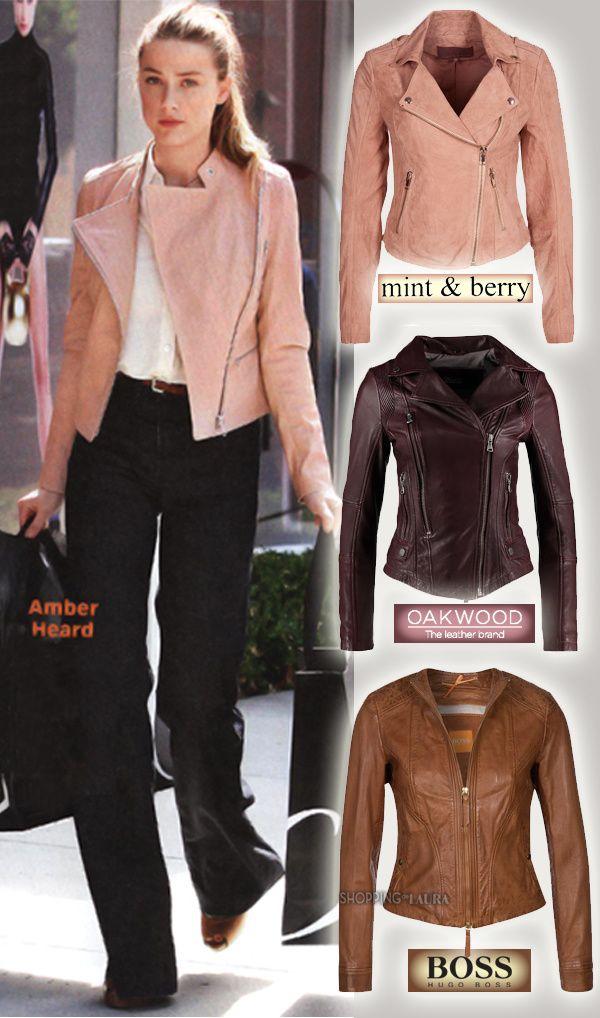 perfecto en cuir veste en cuir rose mint berry veste en. Black Bedroom Furniture Sets. Home Design Ideas