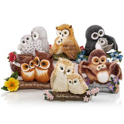 Your Such a Hoot  Figurine Bradford Exchange Owl Always Be At Your Side