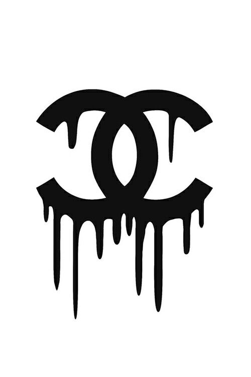 Chanel Drip Svg : chanel, Channel, Chanel, Stickers,, Logo,