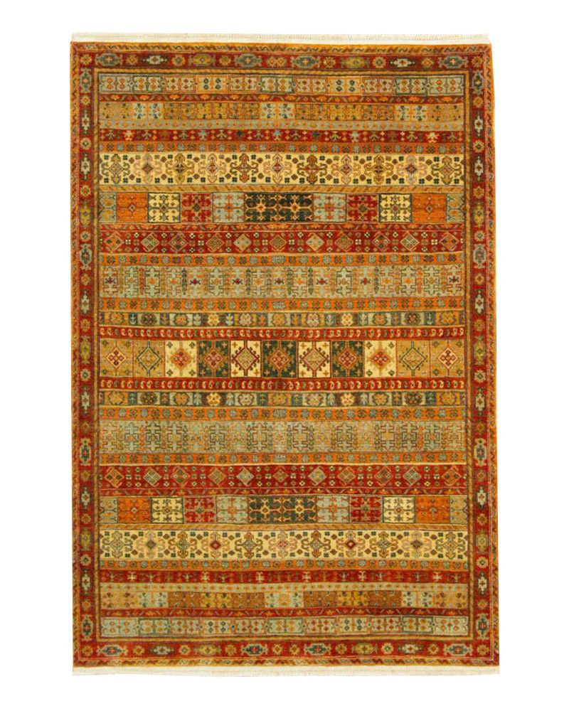 4'1 X 5'11 Traditional Hand Knotted Rug