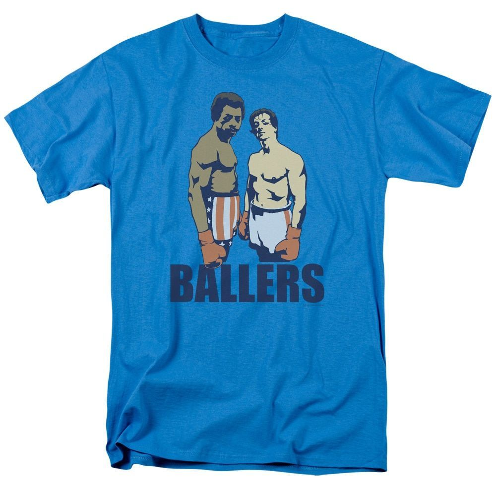 MGM/Rocky/Ballers Short Sleeve Adult T-Shirt 18/1 in Turquoise