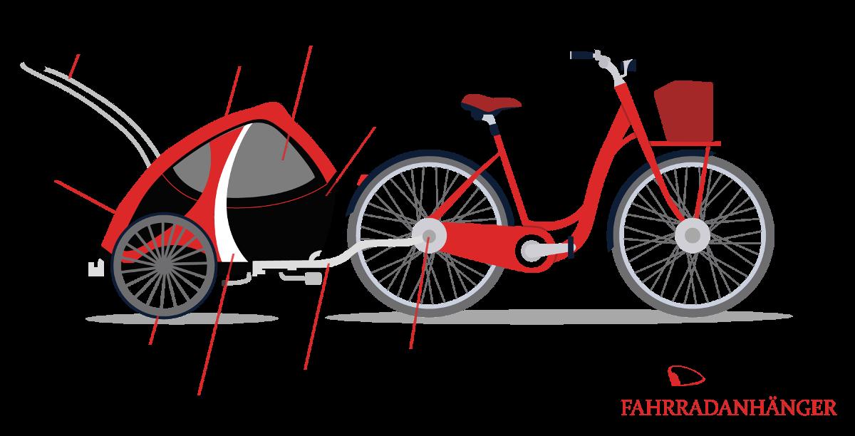 Fahrradanhanger Fur Hunde Im Detail Infografik Hund Fahrrad Hunde Fahrrad