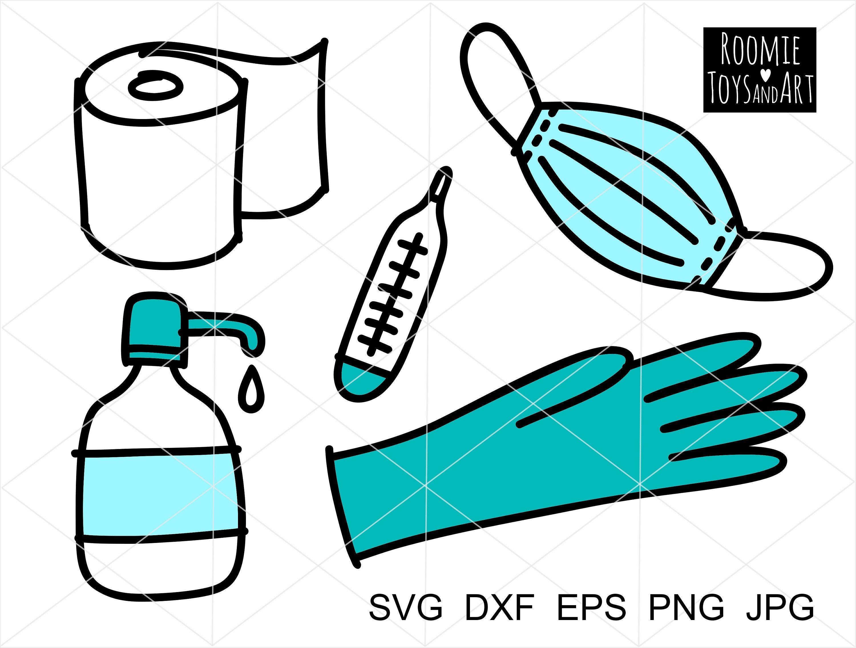 Face Mask Svg Toilet Paper Svg Rubber Glove Svg Medical Kit Supply Clipart Svg Nurse Svg Sanitizer Svg Vector Eps Png Medical Svg Doctor Svg In 2021 Toilet Paper Svg Clip