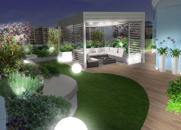 Il giardino pensile di notte progetti di giardini e - Giardino pensile terrazzo ...