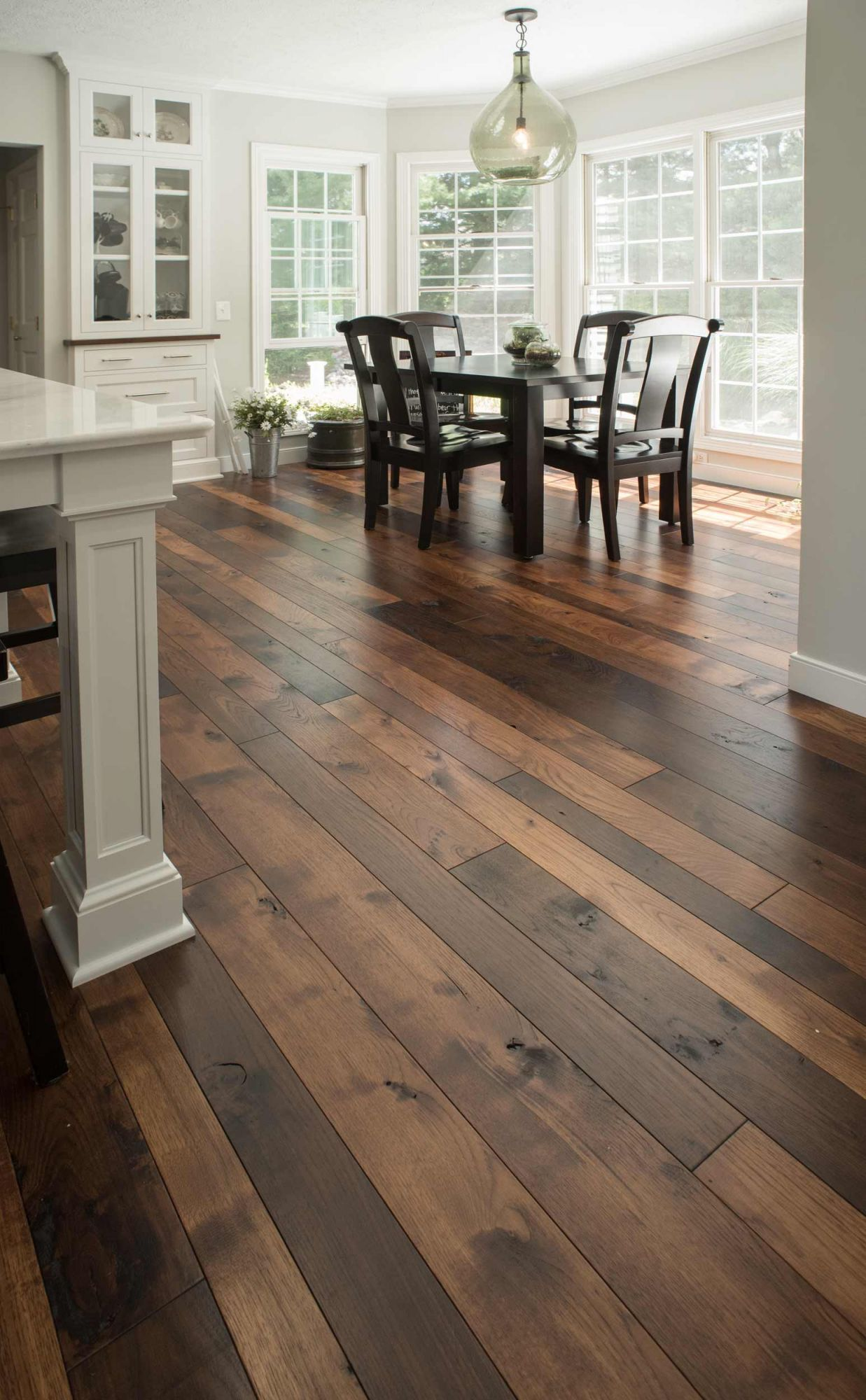 This Two Tone Hickory Floor Is Finished In Both Our Rich Tobacco