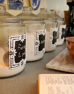 Gorgeous Glass Canisters w/ Chalkboard Paint – Tutorial