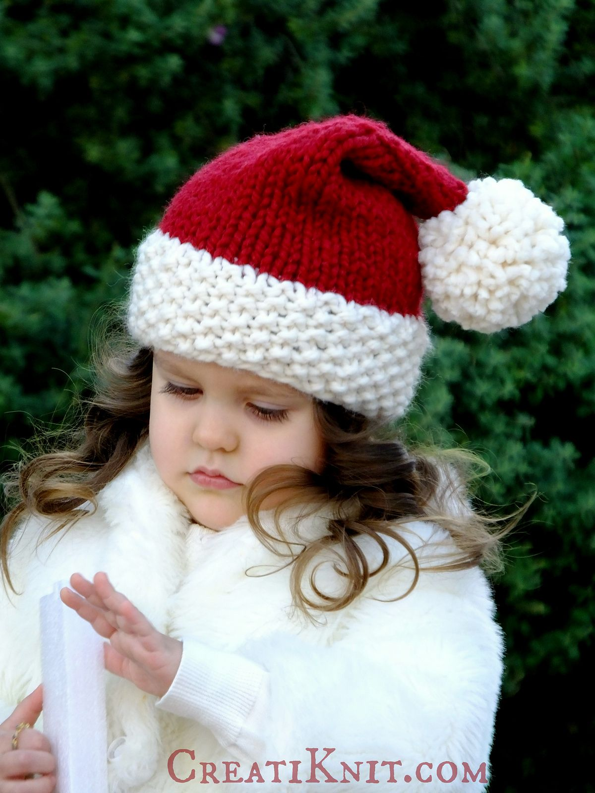 Ravelry: The Santa Cutie Hat by CreatiKnit | Santa hat ...