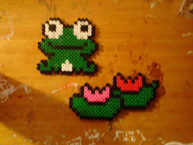 Cute perler bead frog