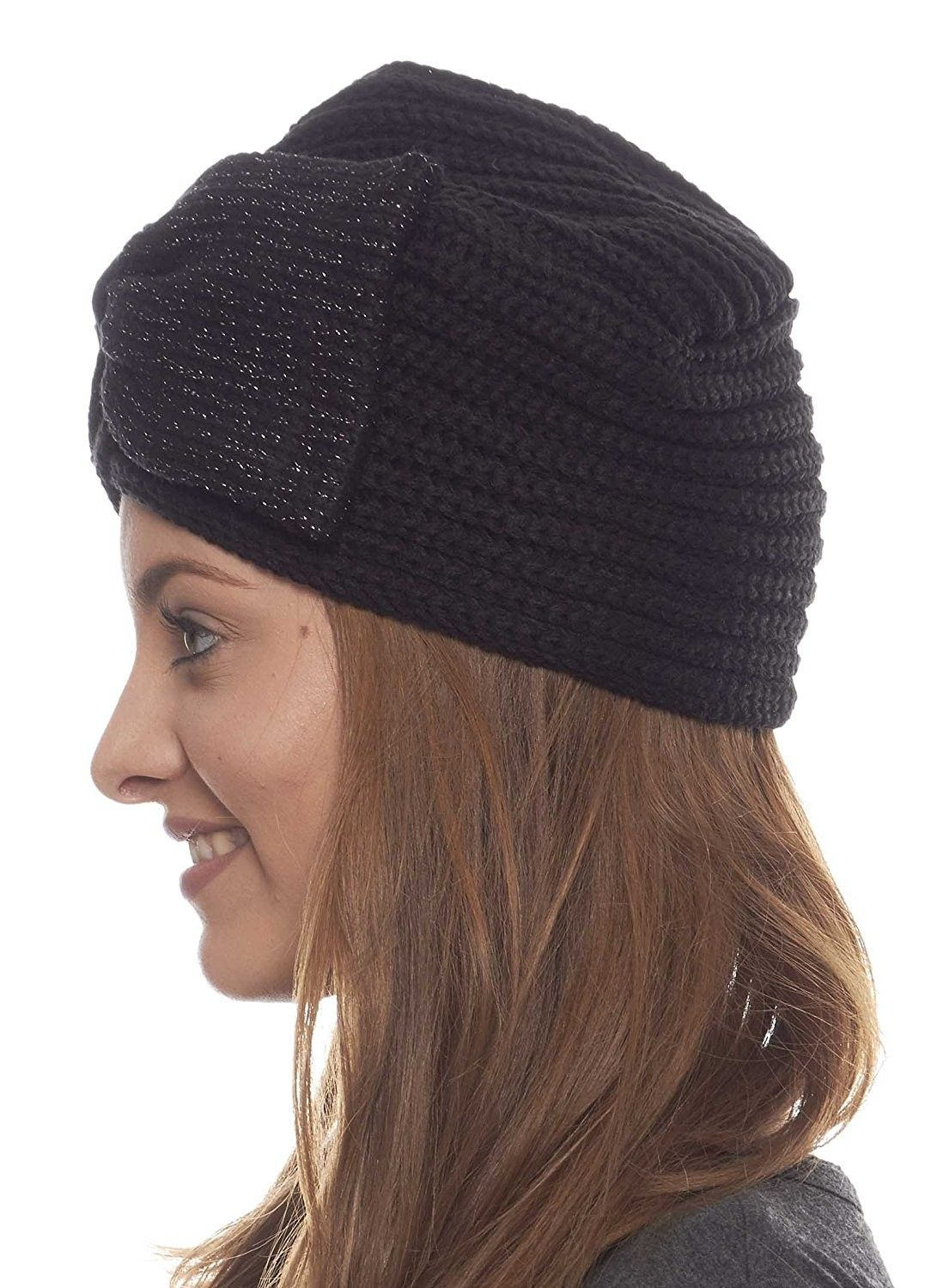 9fc5af09528913 Hats & Caps, Women's Hats & Caps, Skullies & Beanies, Cheerful Chill Knit  Winter Hat with Bow - Black - CU11I0MI0Y5 #women #hats #caps #fashion  #style ...