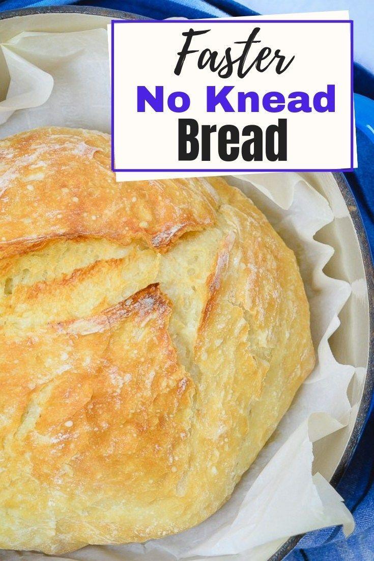 Faster No Knead Bread   Recipe   No knead bread, Easy ...