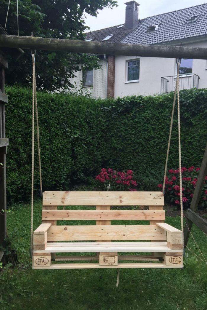 gartenmoebel aus paletten schaukel garten | DIY - Do it yourself ...