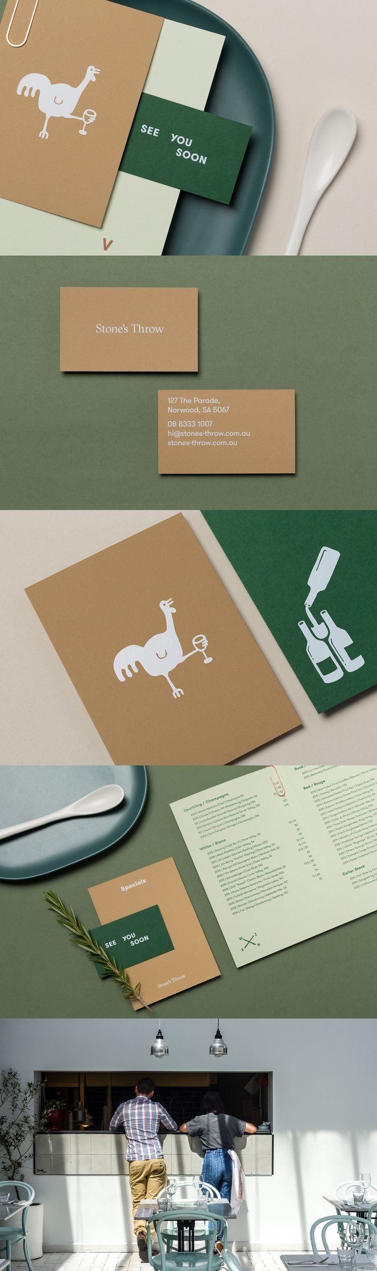 Inspirational Graphic Design For Stones Throw Restaurant And Bar