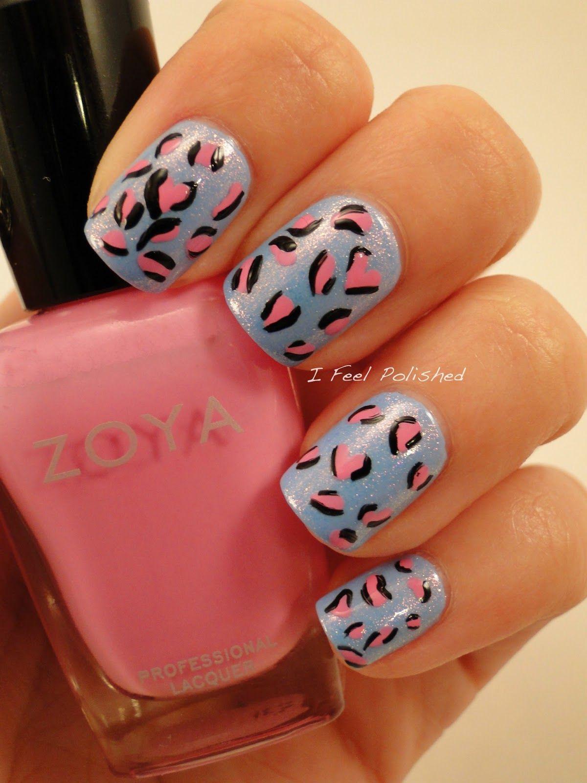 Leopard Print Nails | Nail Art Ideas | Pinterest | Leopardendruck ...