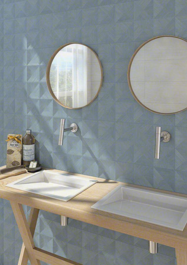 Bathroom Coating Wooden Tile HALSA: Bokna Jeans   25x75cm. | Revestimiento    Pasta Blanca