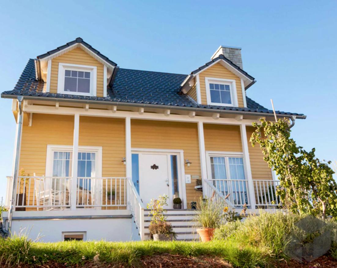 Das Holzhaus im amerikanischen Stil von Schwörer Haus bietet ...