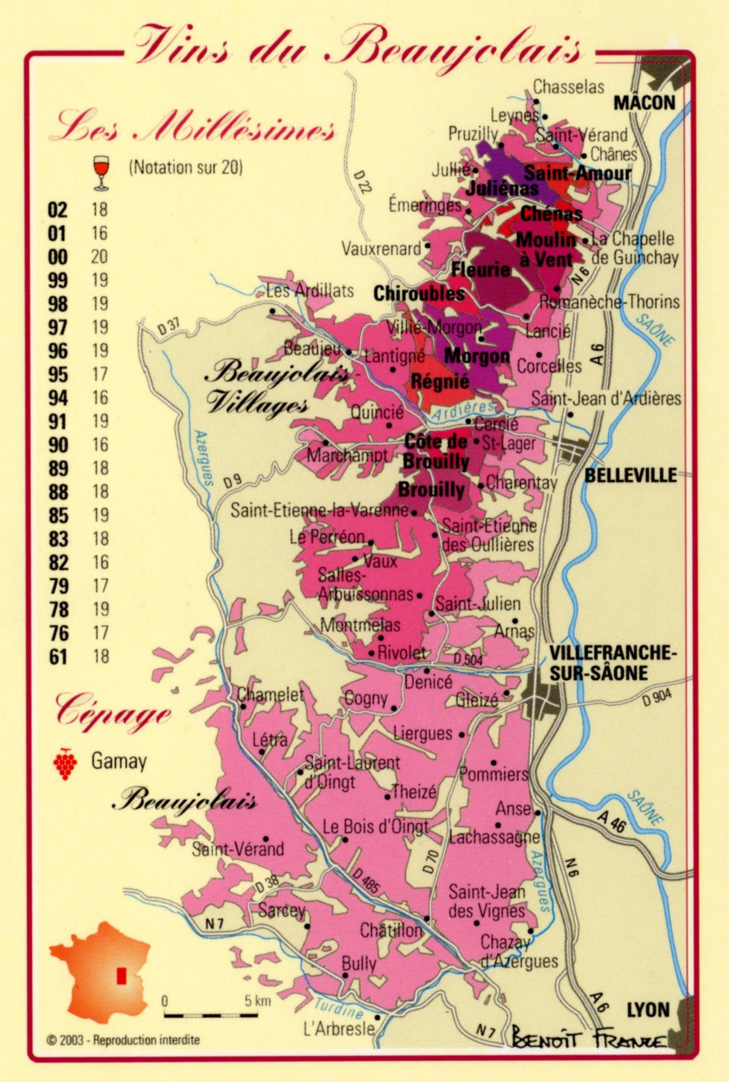 Carte Bourgogne Viticole.Carte Vin Bourgogne Croix Saint Julien