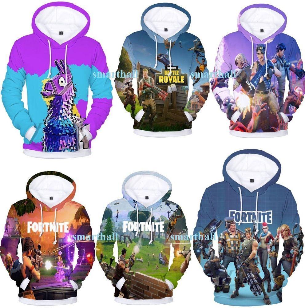 Fortnite Llama Hoodie Sweater Fleece Jacket Unisex Sweatshirt